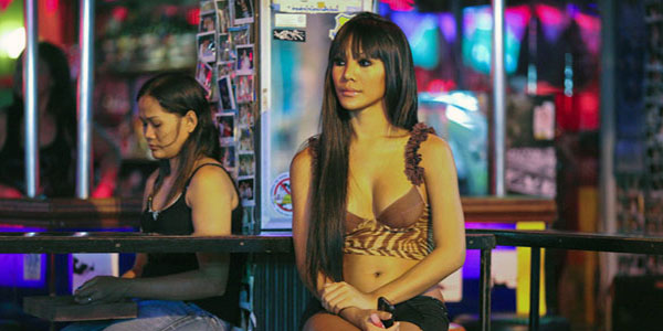 Thai ladyboy prostitute, in Asia go go bar pattaya